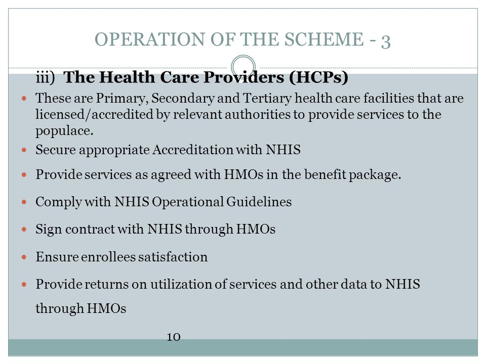 OPERATION OF THE SCHEME - 3