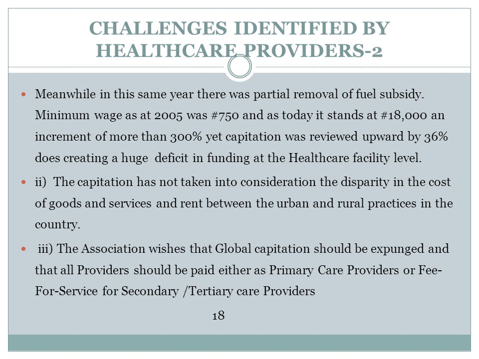 CHALLENGES IDENTIFIED BY HEALTHCARE PROVIDERS-2