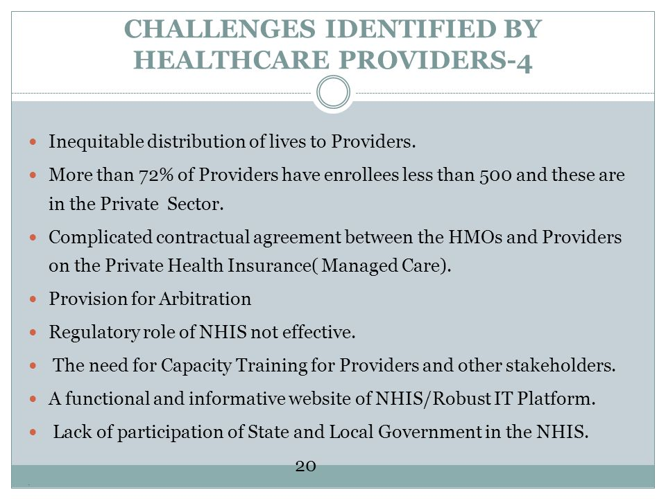 CHALLENGES IDENTIFIED BY HEALTHCARE PROVIDERS-4