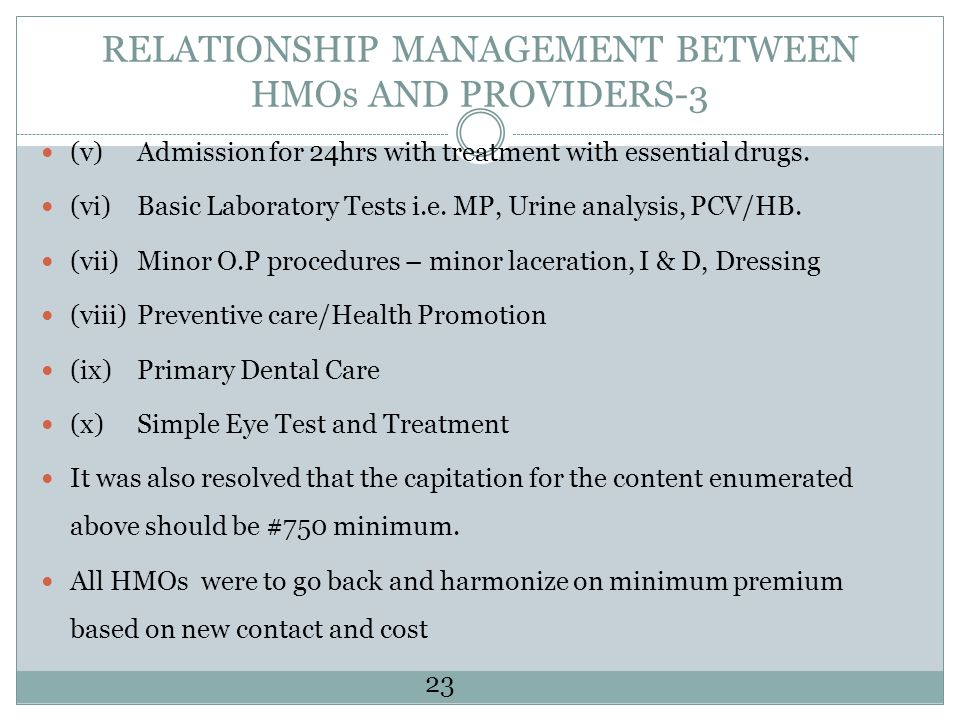 RELATIONSHIP MANAGEMENT BETWEEN HMOs AND PROVIDERS-3
