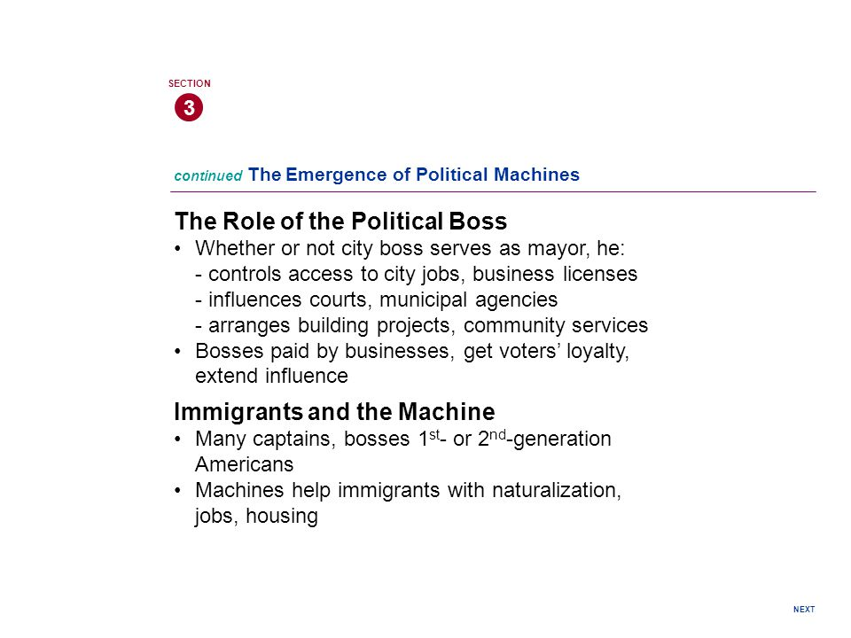 The Role of the Political Boss