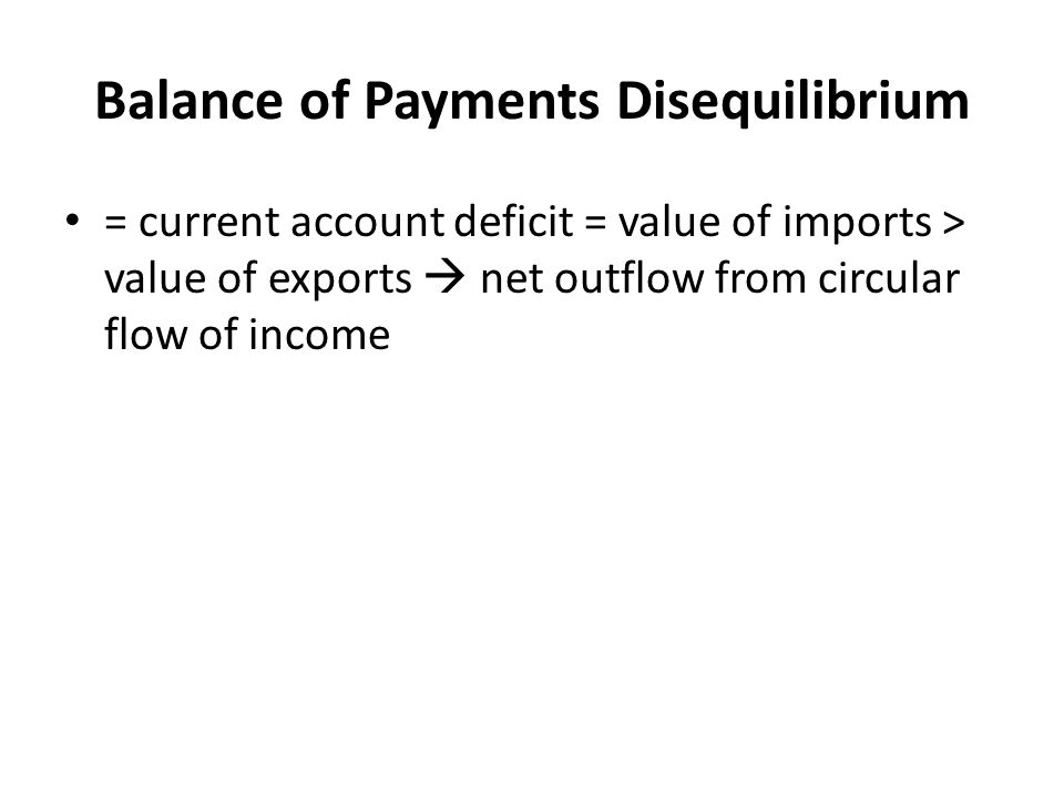 Balance of Payments Disequilibrium