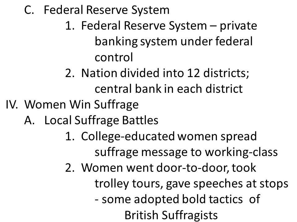 C. Federal Reserve System
