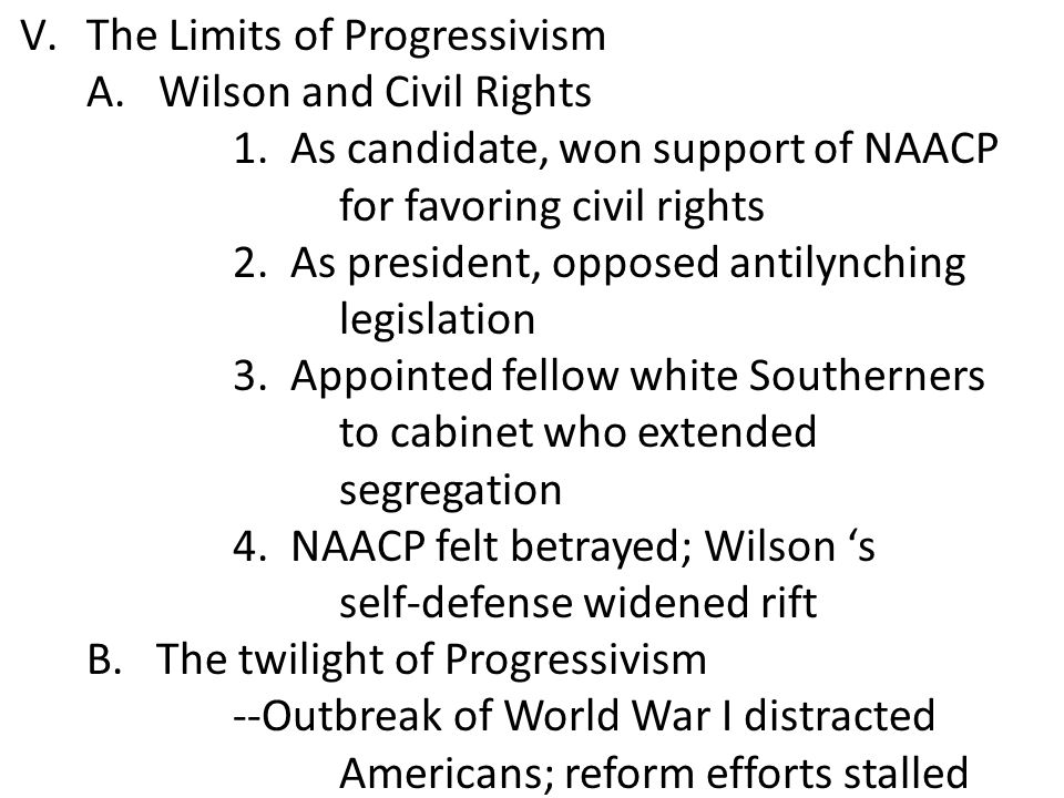 The Limits of Progressivism