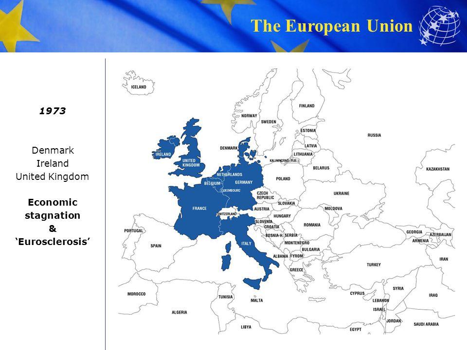 1973 Denmark Ireland United Kingdom Economic stagnation & 'Eurosclerosis'