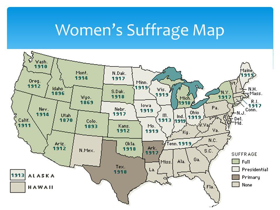 Women's Suffrage Map