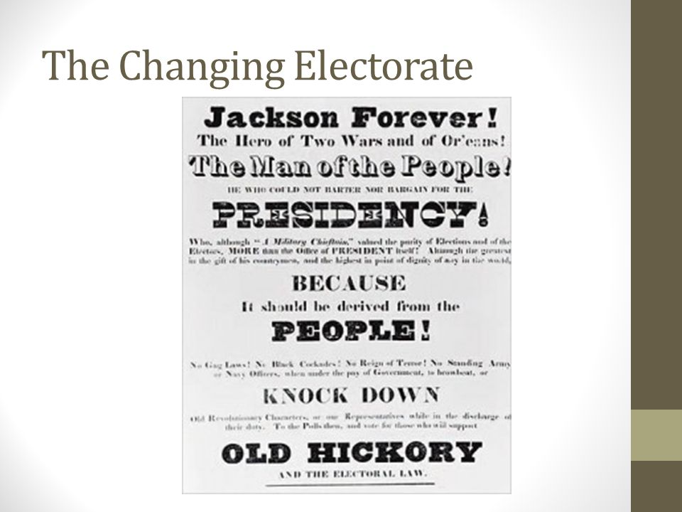 The Changing Electorate