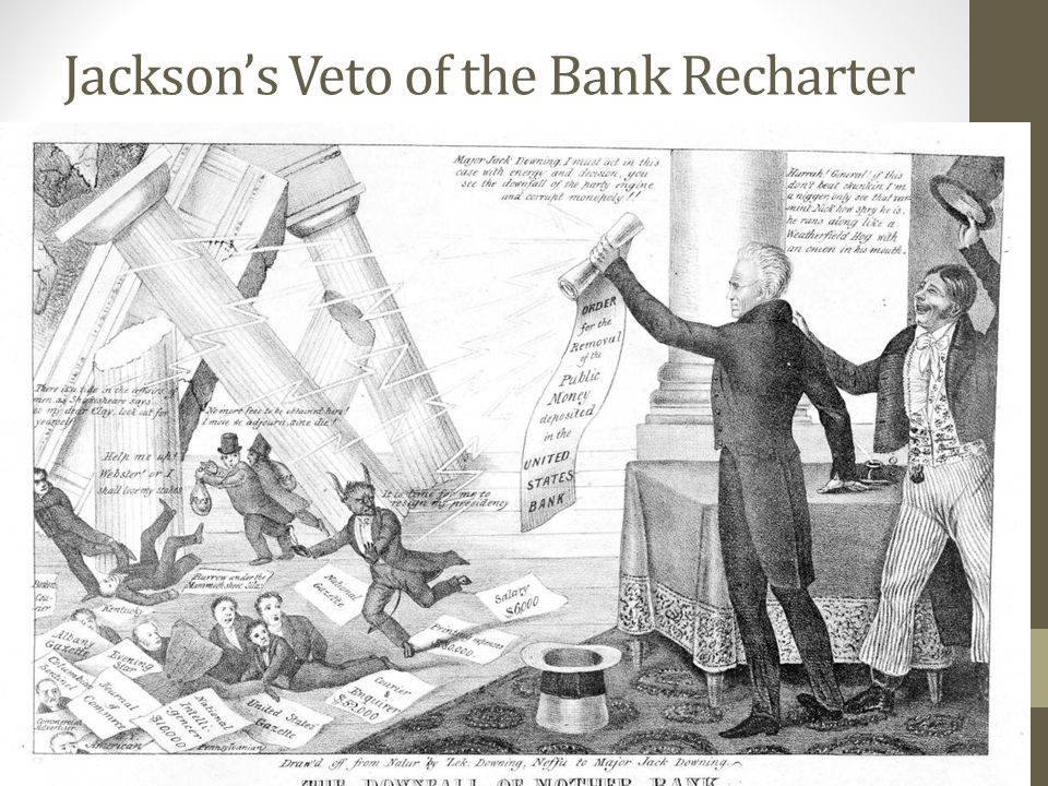 Jackson's Veto of the Bank Recharter