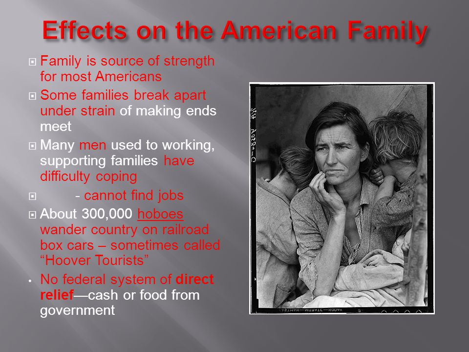 Effects on the American Family