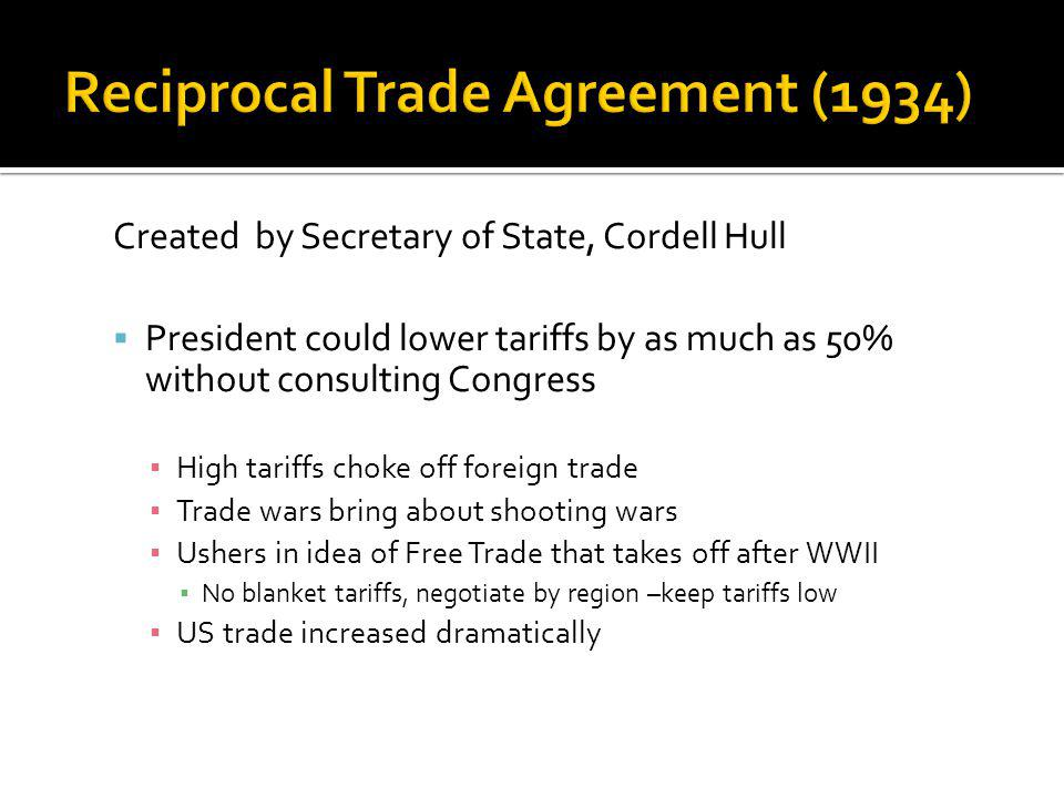 Reciprocal Trade Agreement (1934)