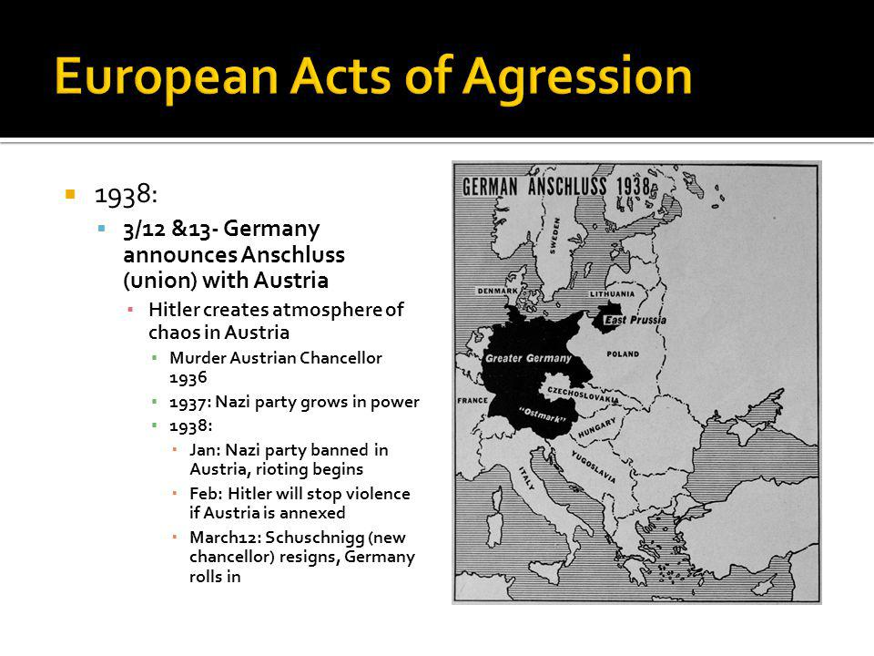 European Acts of Agression