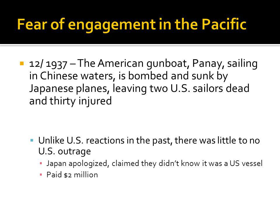 Fear of engagement in the Pacific