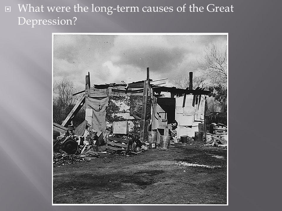 What were the long-term causes of the Great Depression