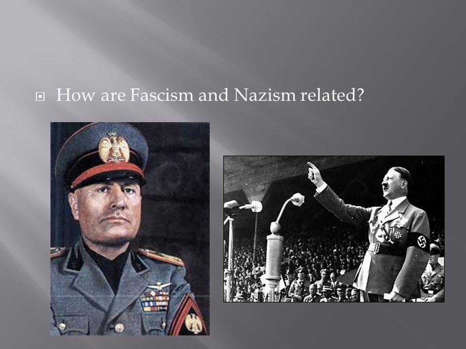 How are Fascism and Nazism related