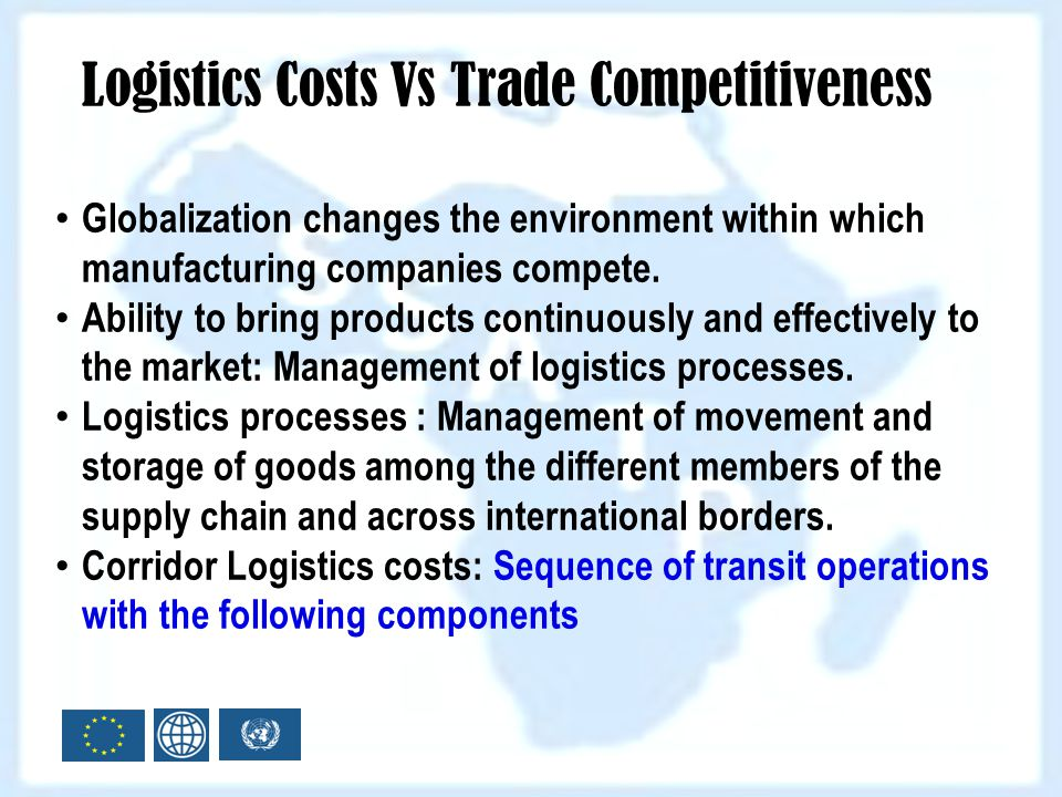 Logistics Costs Vs Trade Competitiveness