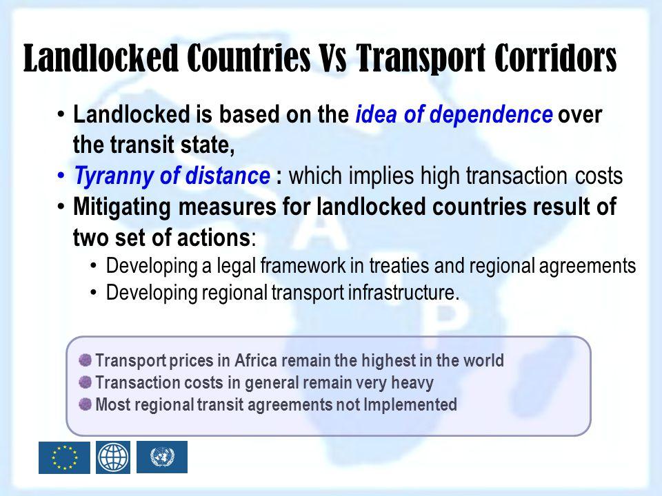 Landlocked Countries Vs Transport Corridors