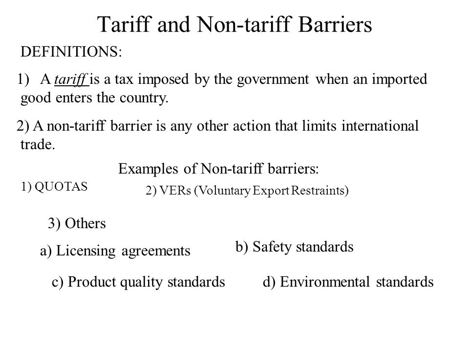 Tariffs: Tariff and Tax in International Trade