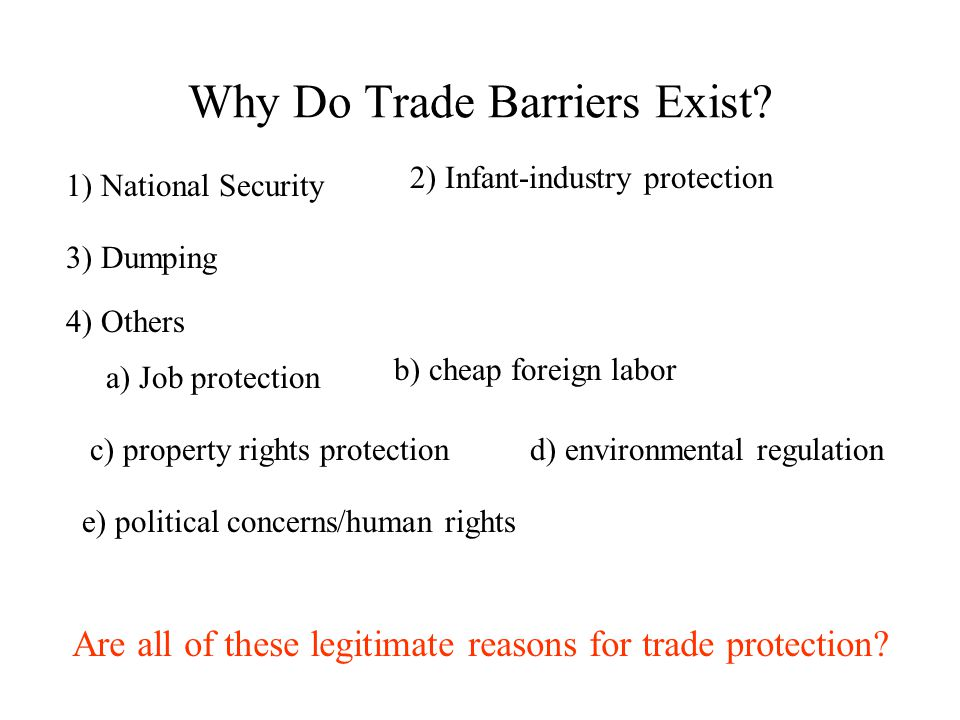Why Do Trade Barriers Exist