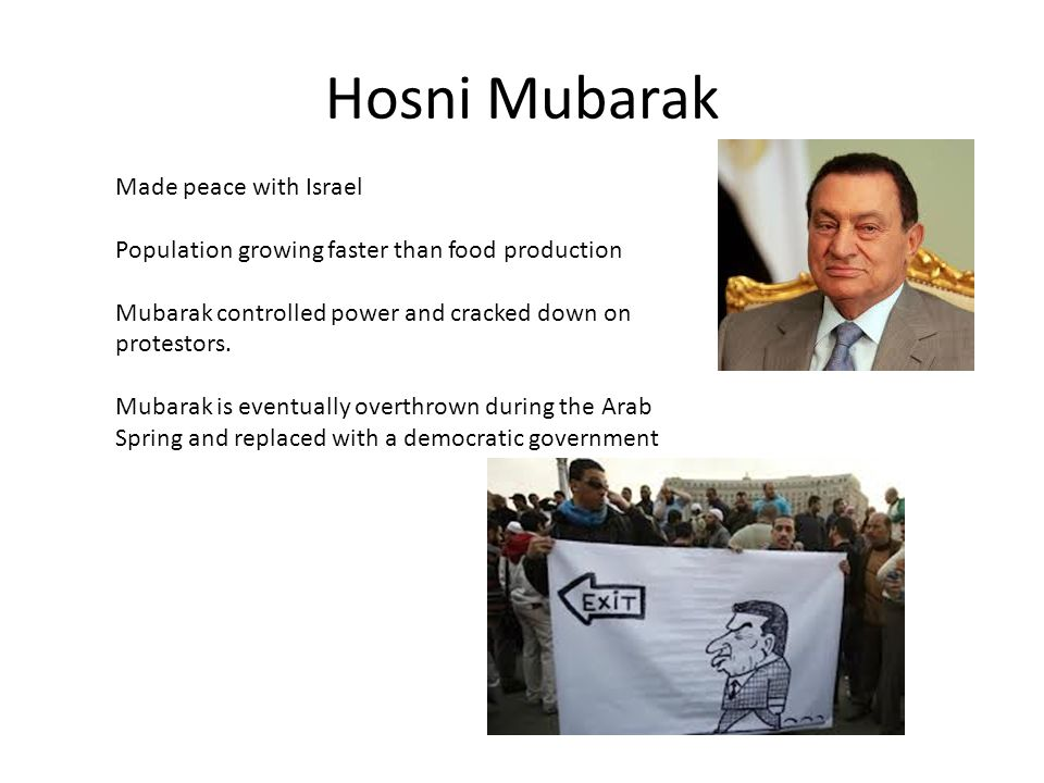 Hosni Mubarak Made peace with Israel