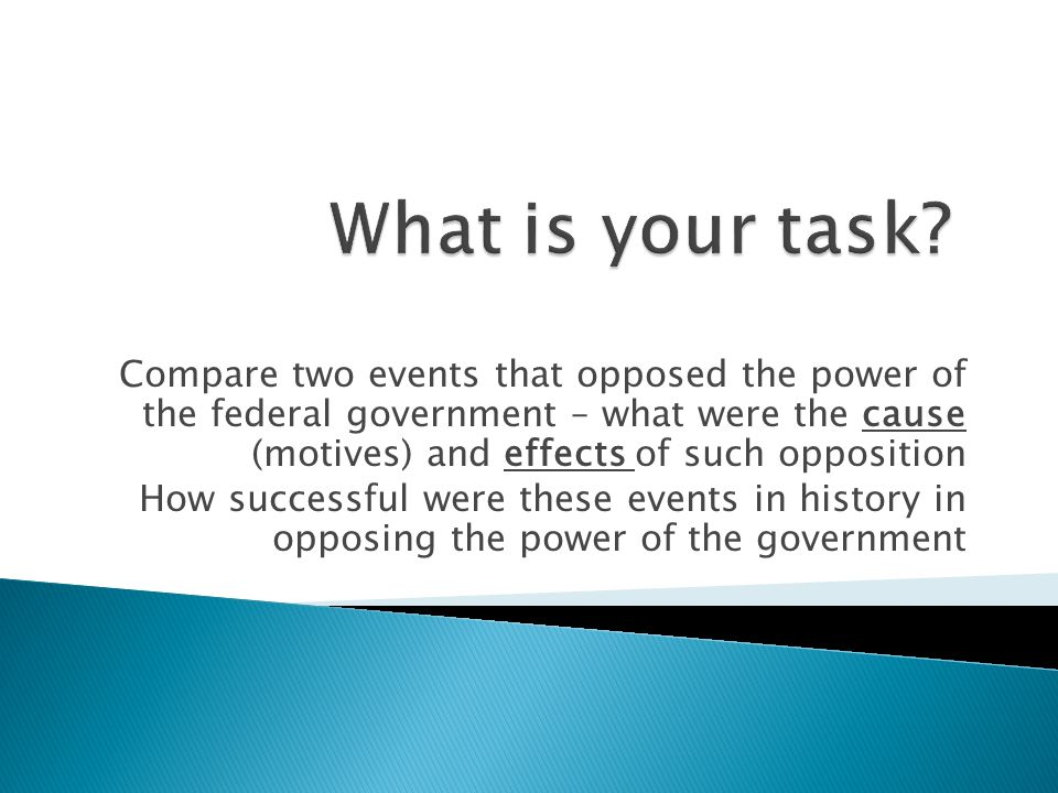 What is your task
