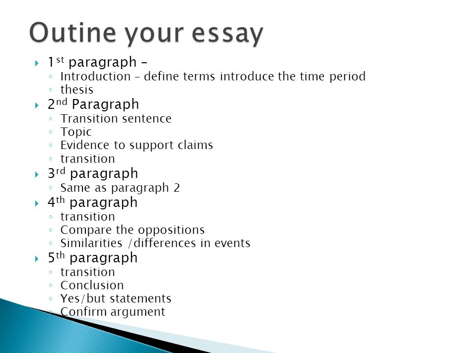Outine your essay 1st paragraph – 2nd Paragraph 3rd paragraph
