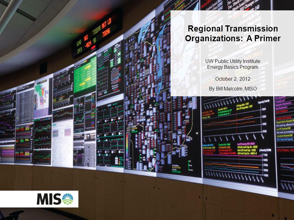 Regional Transmission Organizations: A Primer