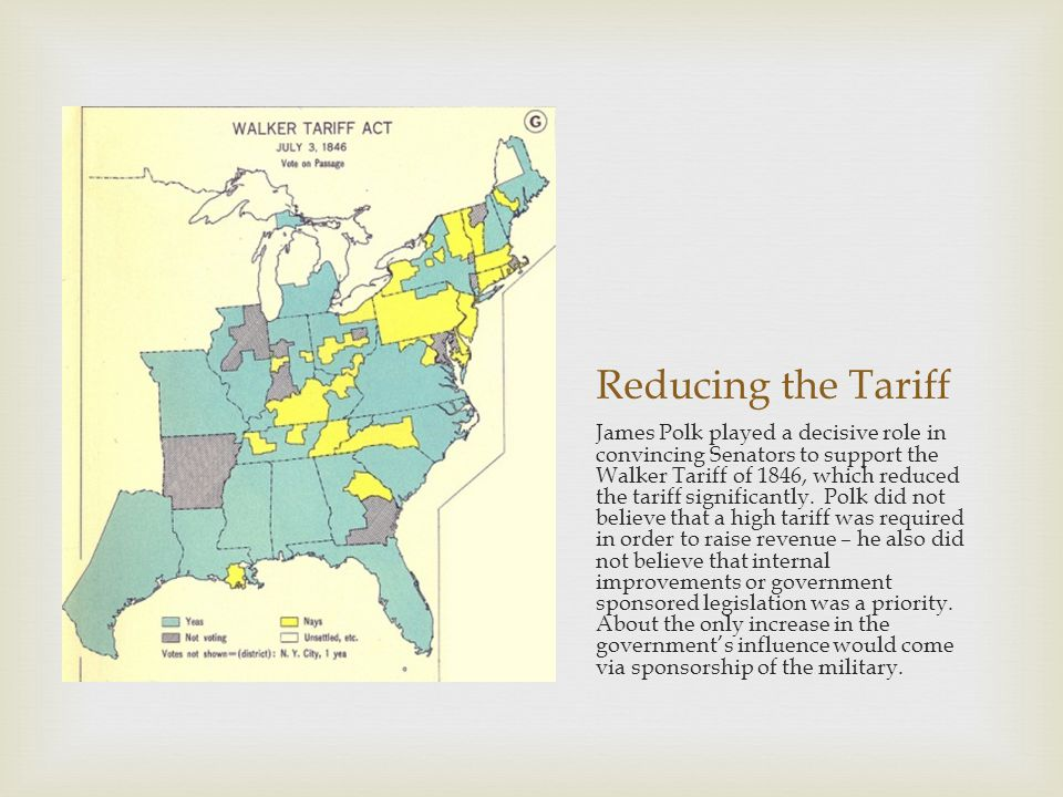 Reducing the Tariff