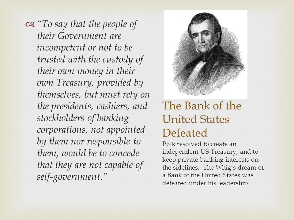 The Bank of the United States Defeated