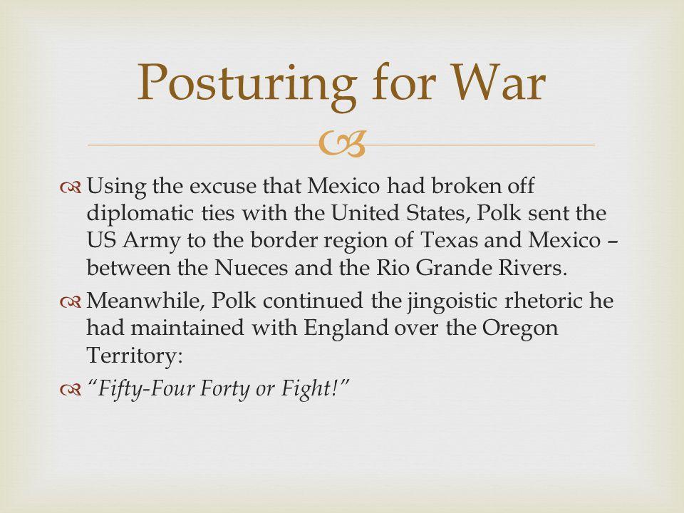 Posturing for War
