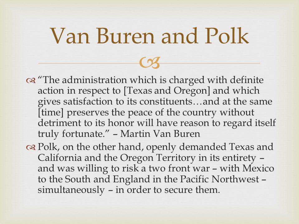 Van Buren and Polk