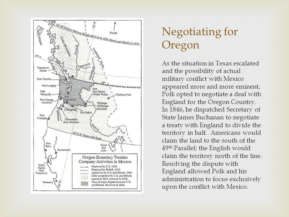 Negotiating for Oregon