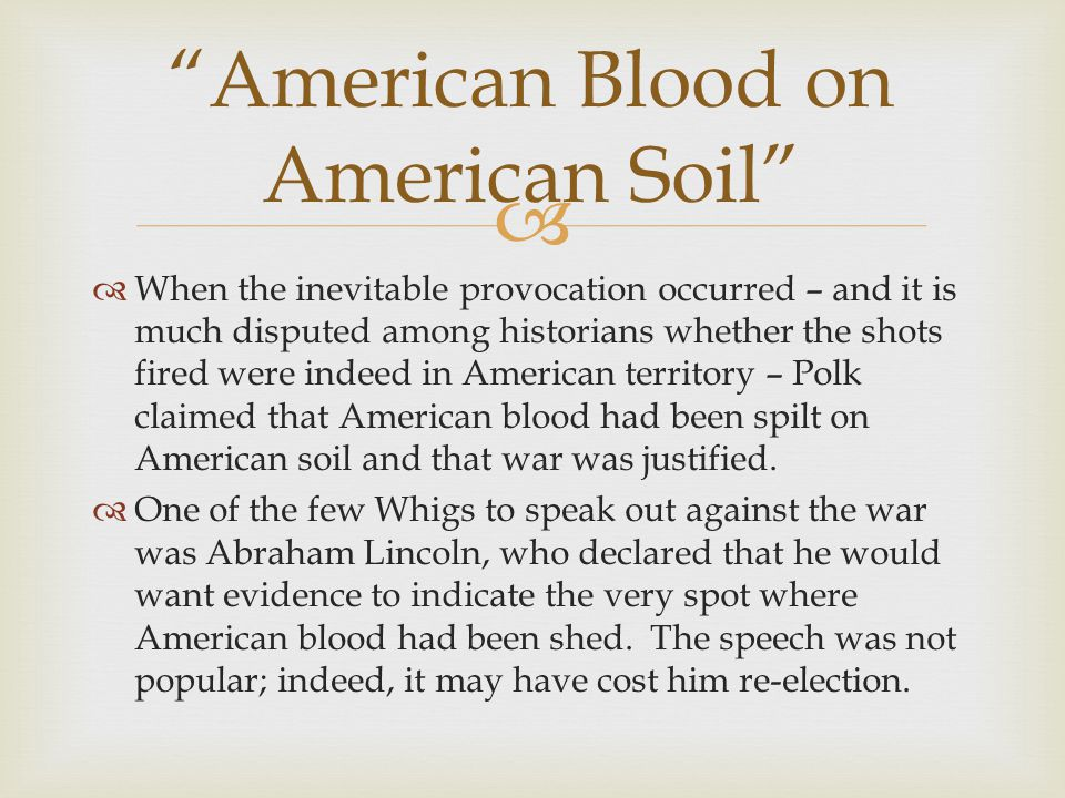 American Blood on American Soil