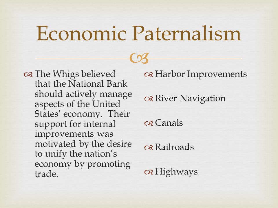 Economic Paternalism