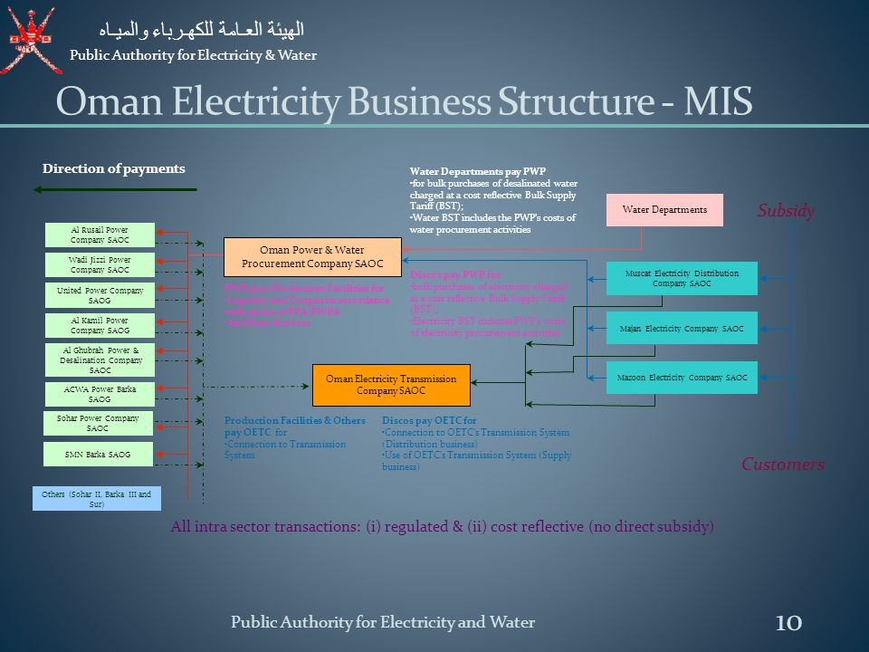 Oman Electricity Business Structure - MIS