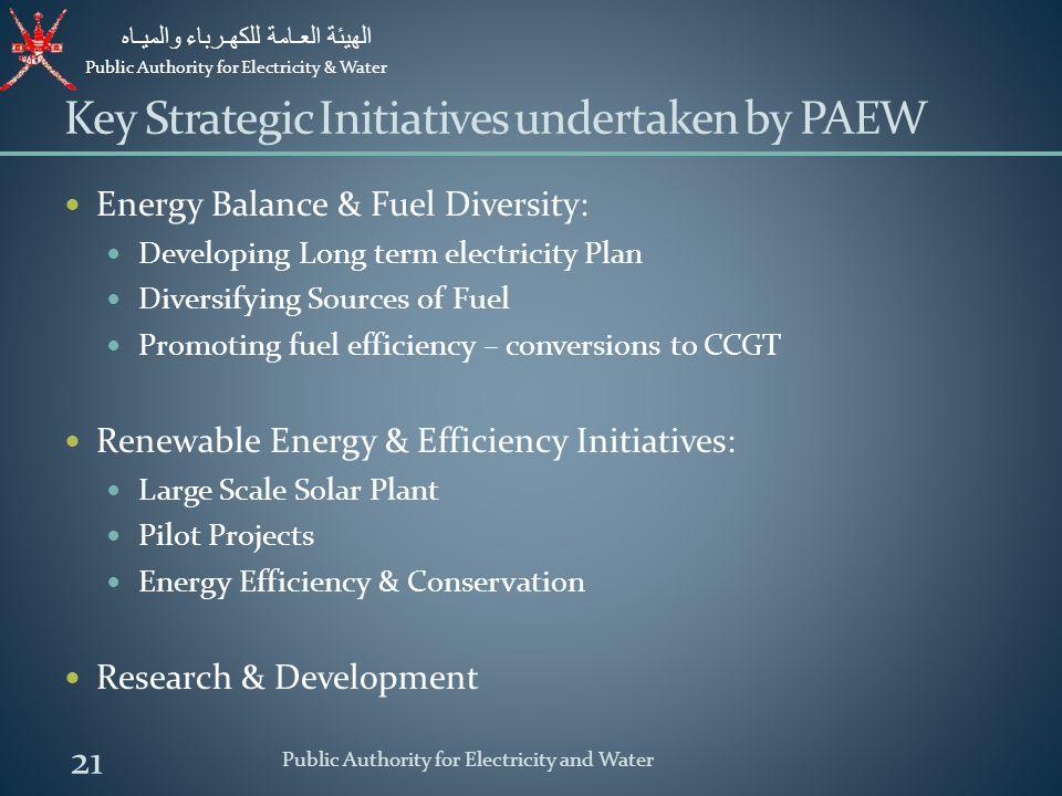 Key Strategic Initiatives undertaken by PAEW