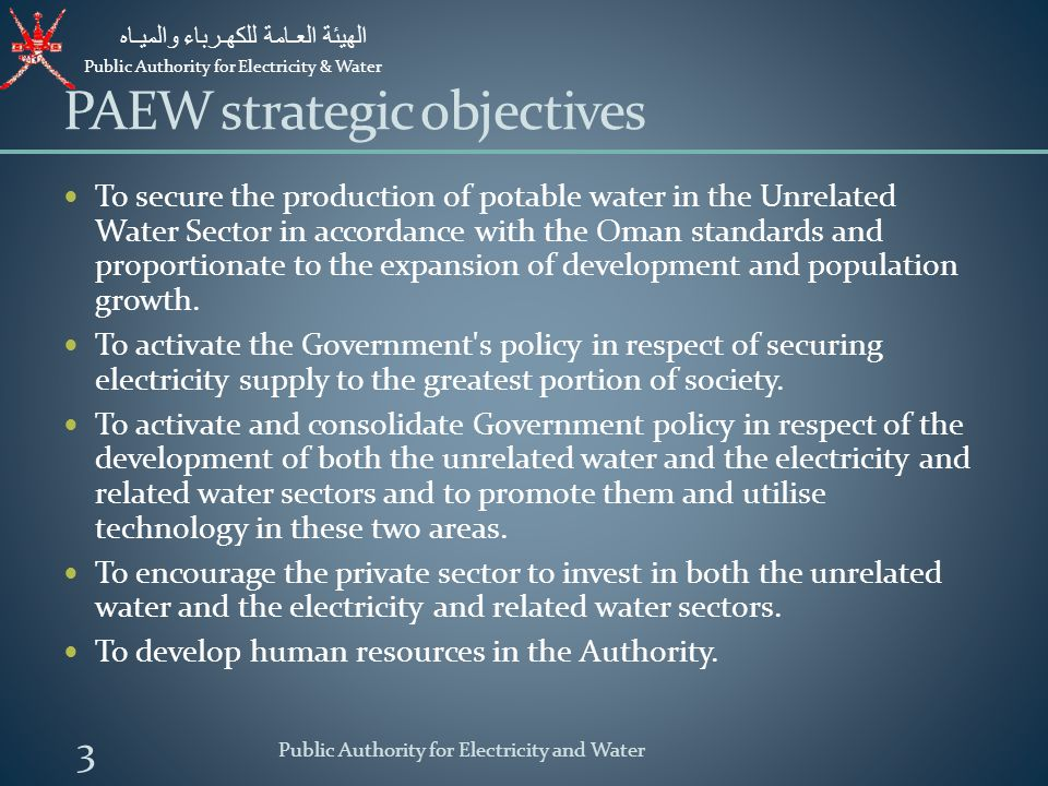 PAEW strategic objectives