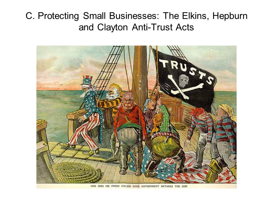 C. Protecting Small Businesses: The Elkins, Hepburn and Clayton Anti-Trust Acts