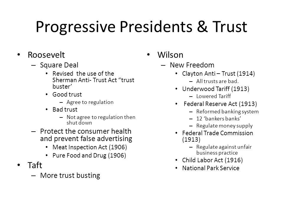 Progressive Presidents & Trust