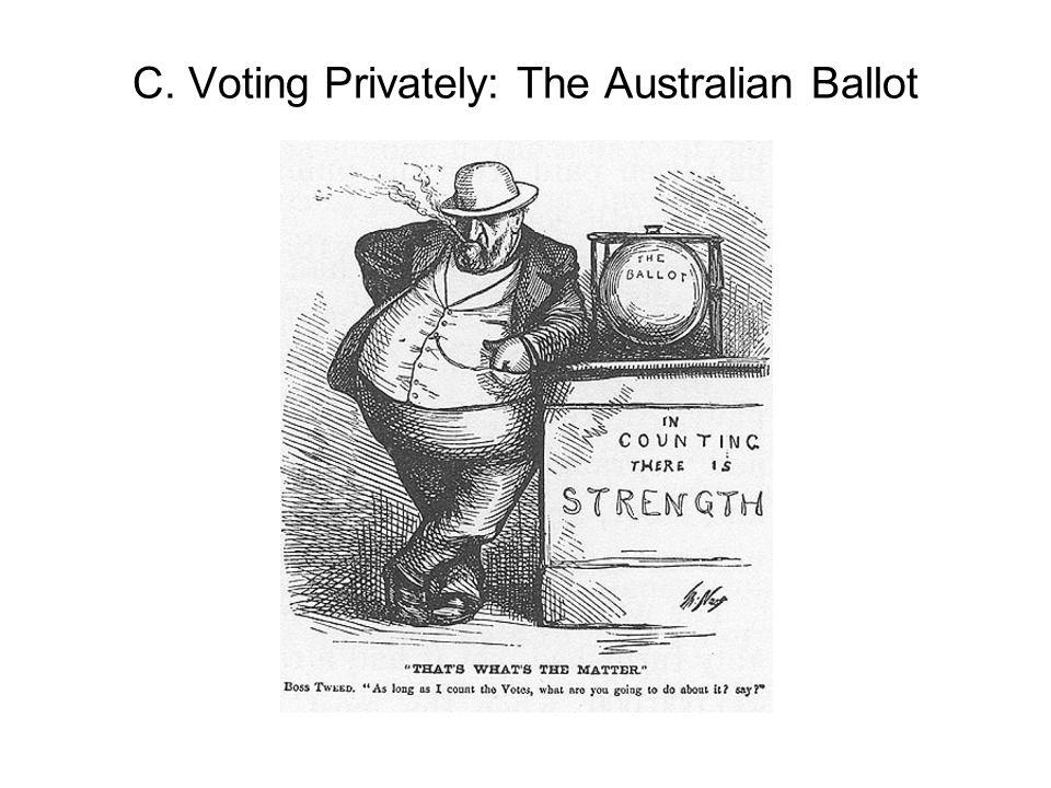 C. Voting Privately: The Australian Ballot