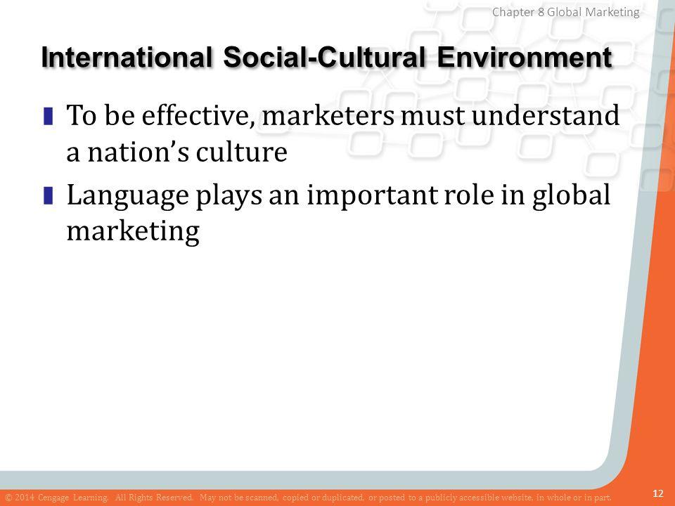 International Social-Cultural Environment