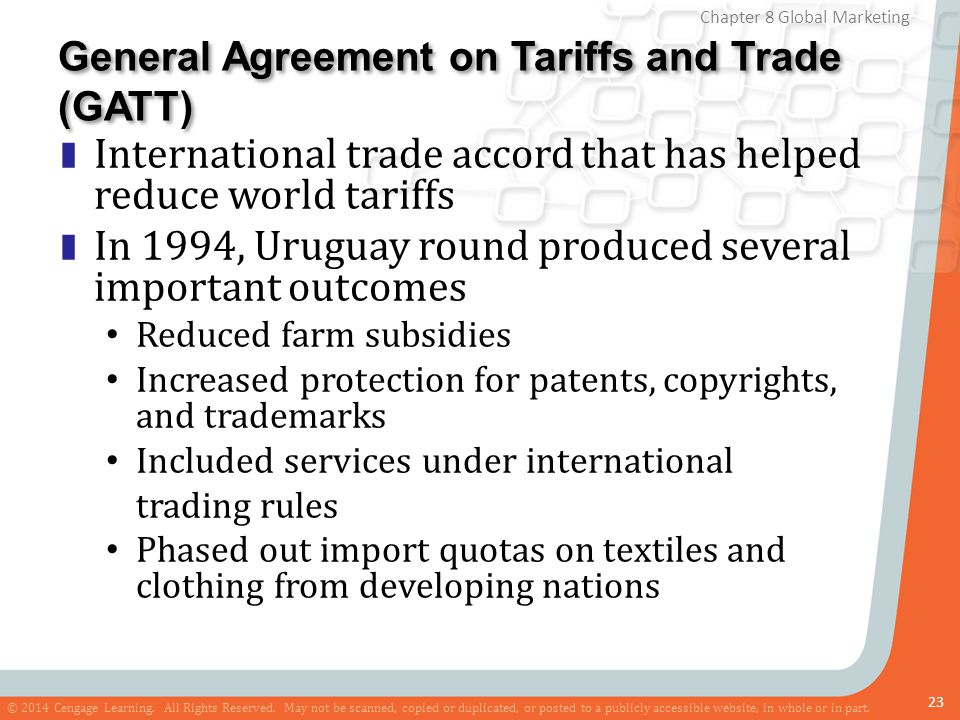 General Agreement on Tariffs and Trade (GATT)
