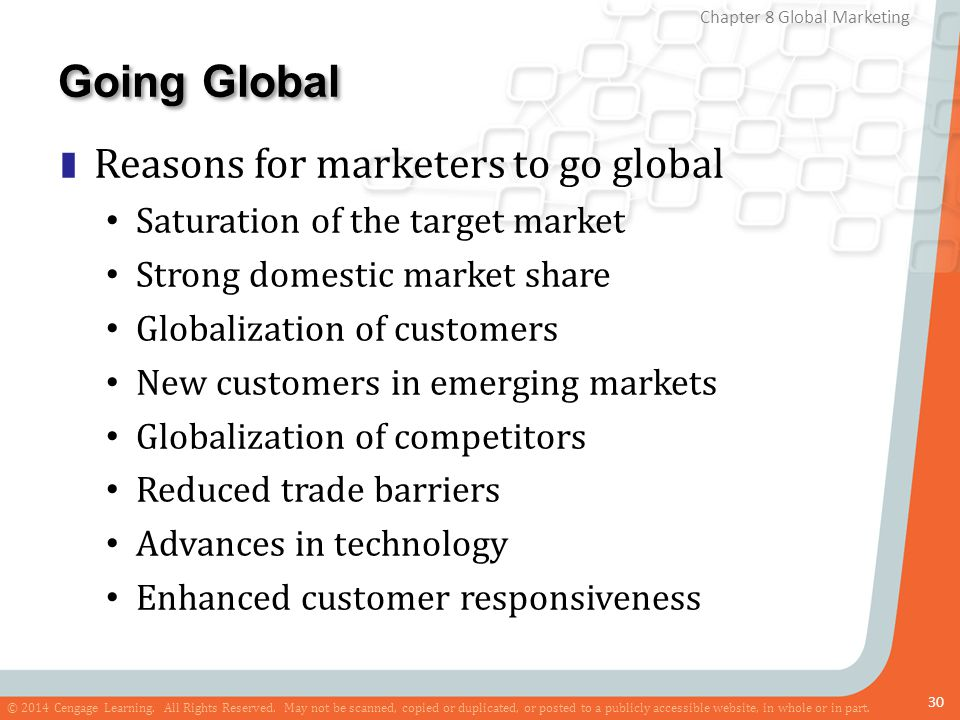 Going Global Reasons for marketers to go global