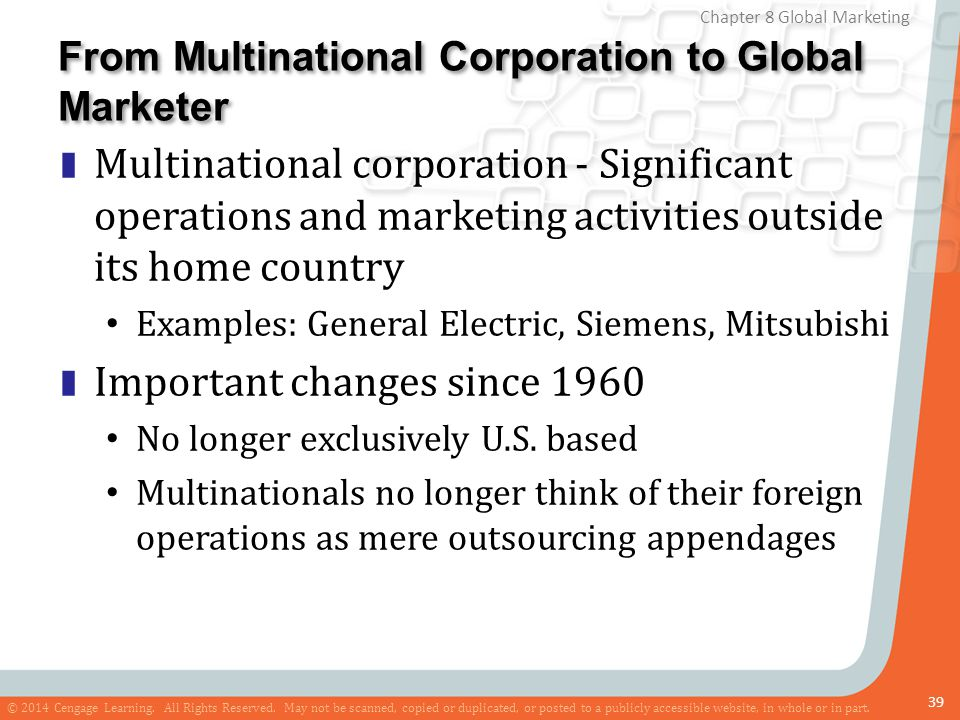 From Multinational Corporation to Global Marketer