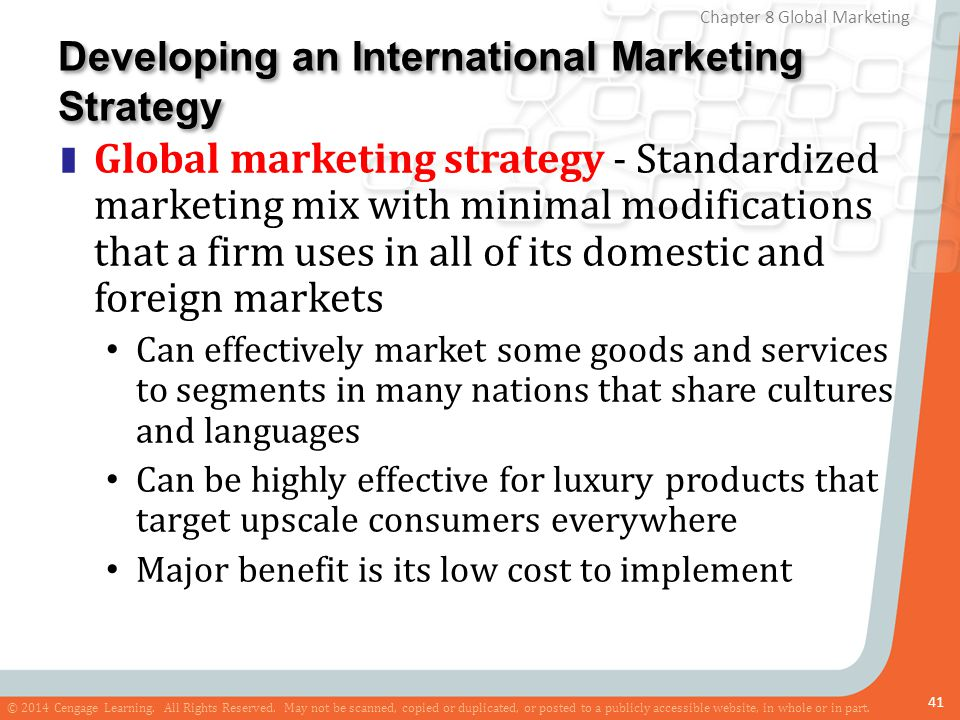 Developing an International Marketing Strategy