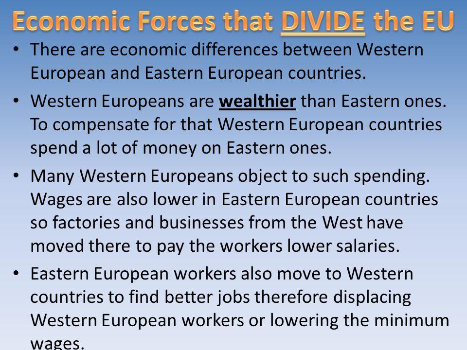 Economic Forces that DIVIDE the EU