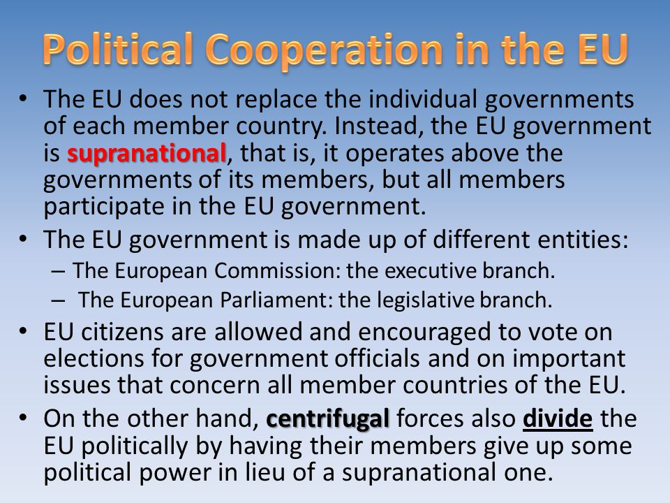 Political Cooperation in the EU