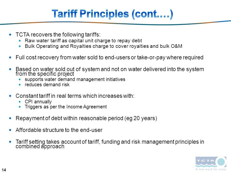 Tariff Principles (cont.…)