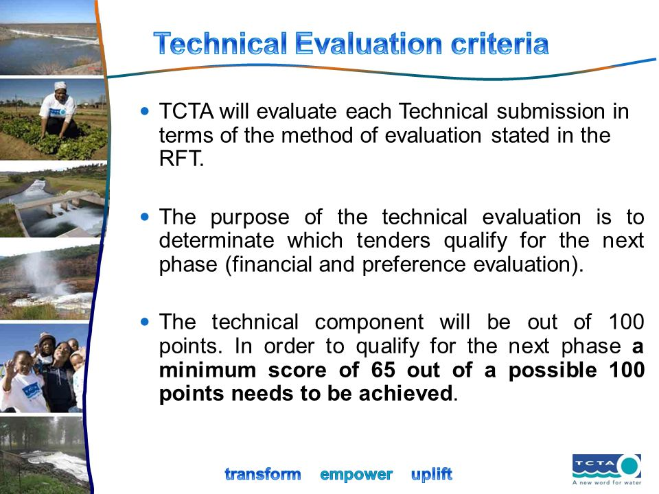 Technical Evaluation criteria