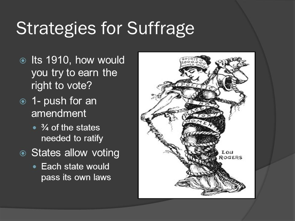 Strategies for Suffrage