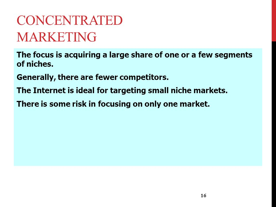 Concentrated Marketing
